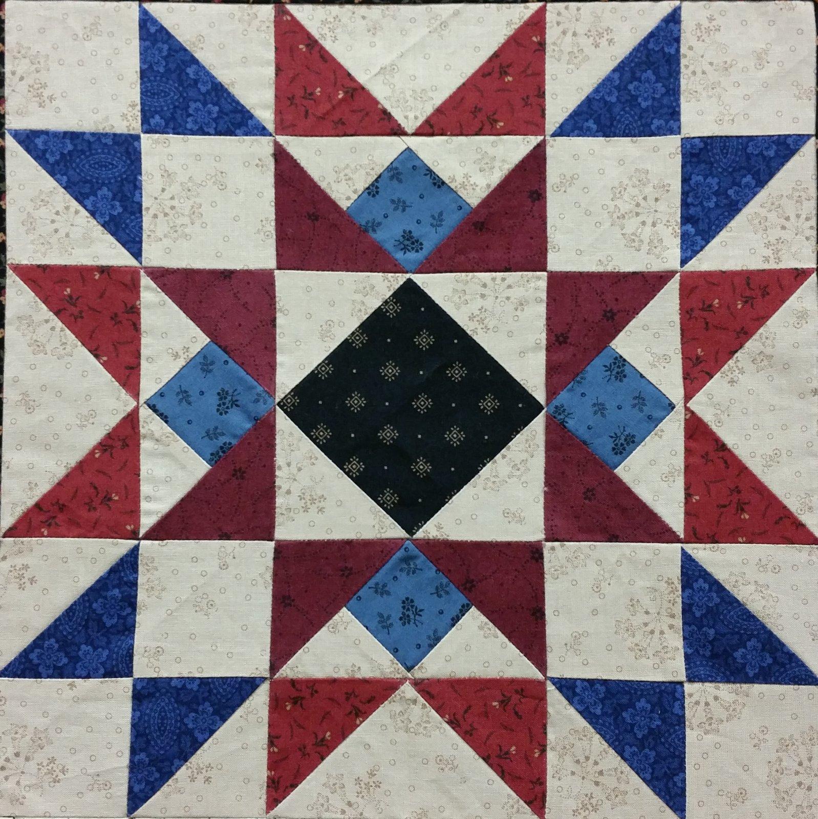 Chesapeake Wishing Star Repro Fabric Version 2018 Quilts Around the Bay Block Kit
