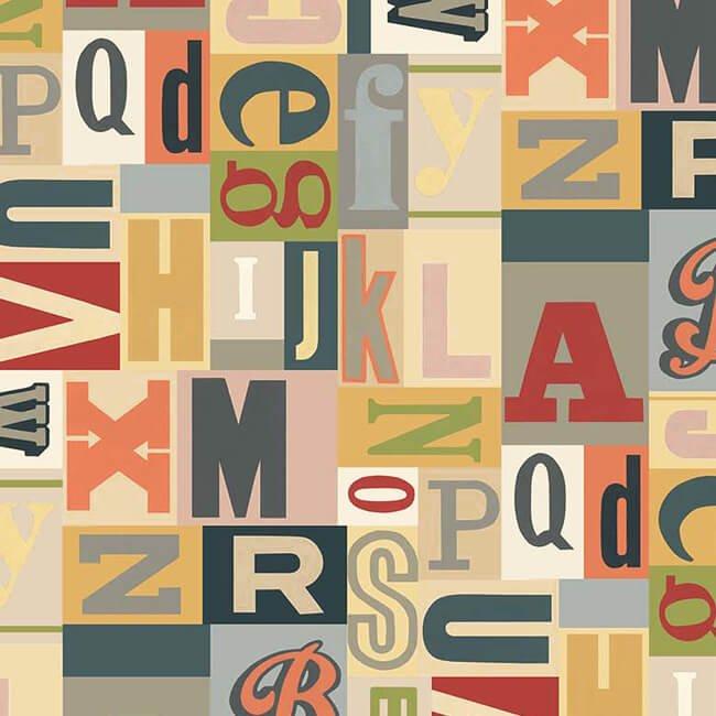 Letterpress 21890-11 by Deborah Edwards for Northcott Fabrics