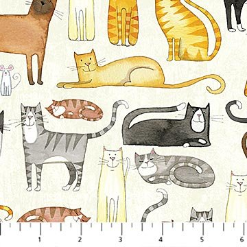You Had Me At Meow 22160-11 Cats from Florence English for Northcott