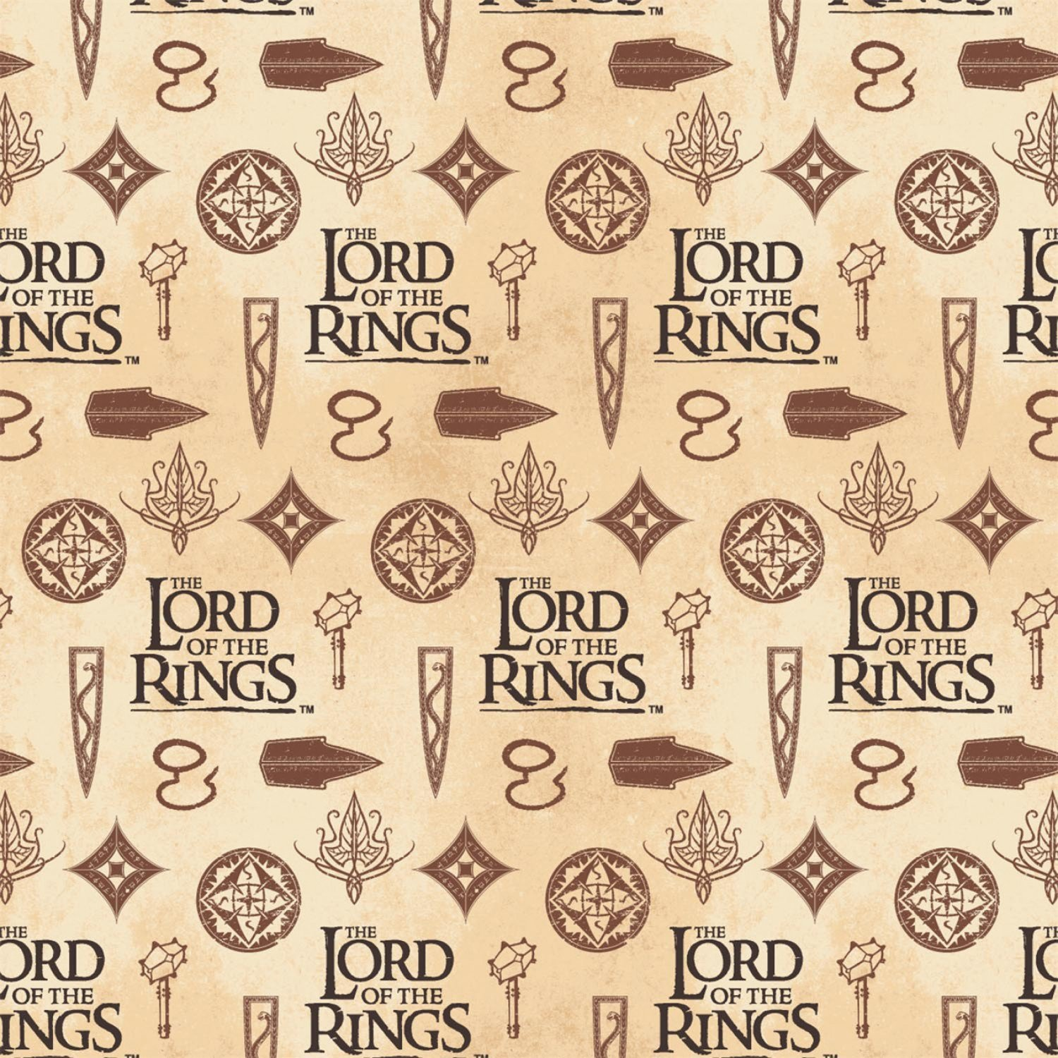 Lord of the Rings 23220203-3 Icons Tan Camelot Fabrics