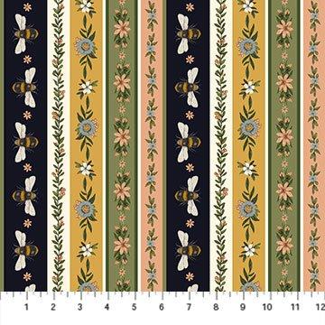Bee Kind 23789-11 Stripe by Jade Mosinski for Northcott