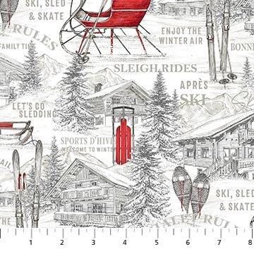 Alpine Winter 24336-10 Alpine Toile by Deborah Edwards for Northcott