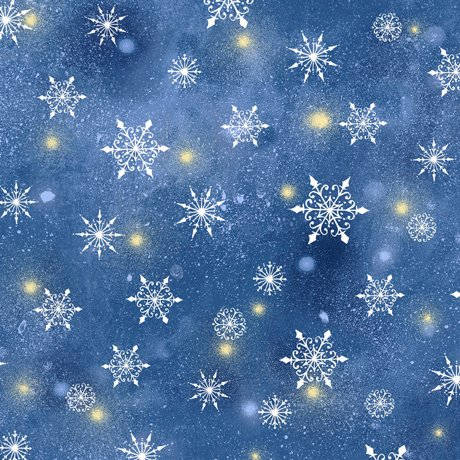 Woodland Cuties 27116-N Snowflakes by Sarah Summers for QT Fabrics
