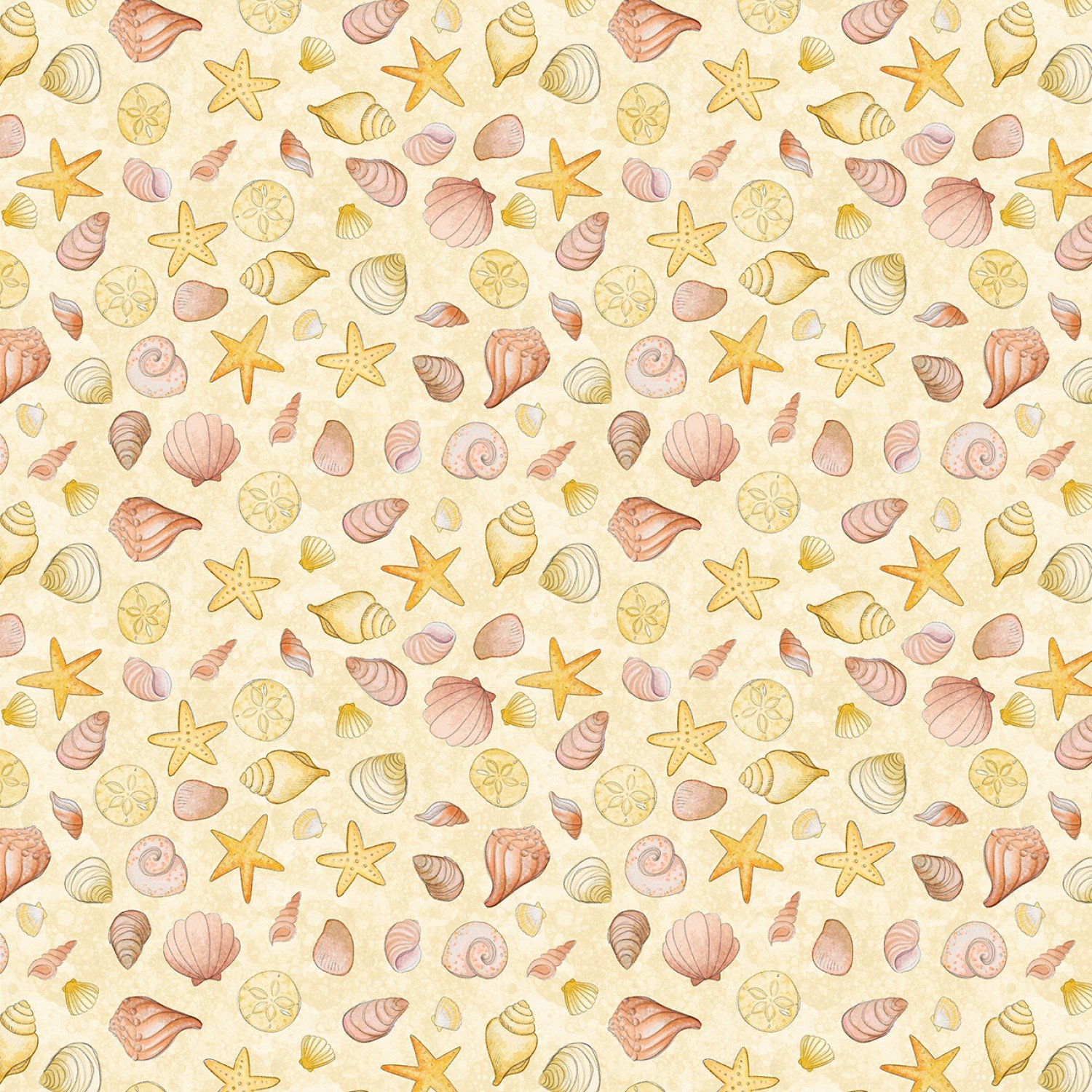 Water Wishes 27568-558 Seashells by Danielle Leone for Wilmington Prints