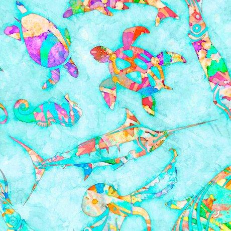 Ocean Paradise 27703-Q Sea Life by Dan Morris for QT Fabrics