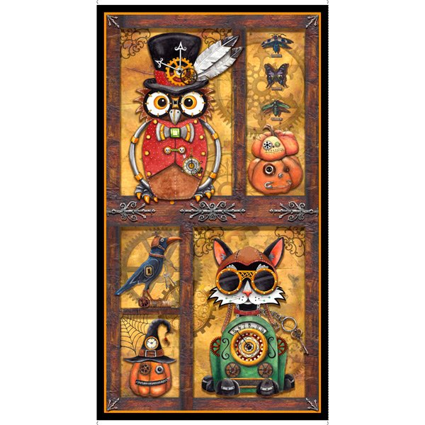 Steampunk Halloween Panel 27769-S by Desiree's Designs for QT