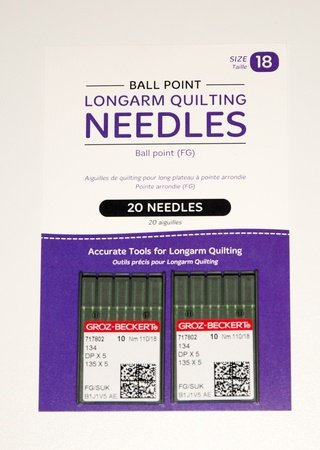 HQ Longarm Needles Size 18 Ball Point Groz-Beckert 20 ct