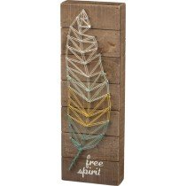 Free Spirit Wooden String Art Plaque
