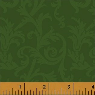 Color Wall 32035A-8 Dk Green Scroll by Mary Koval for Windham