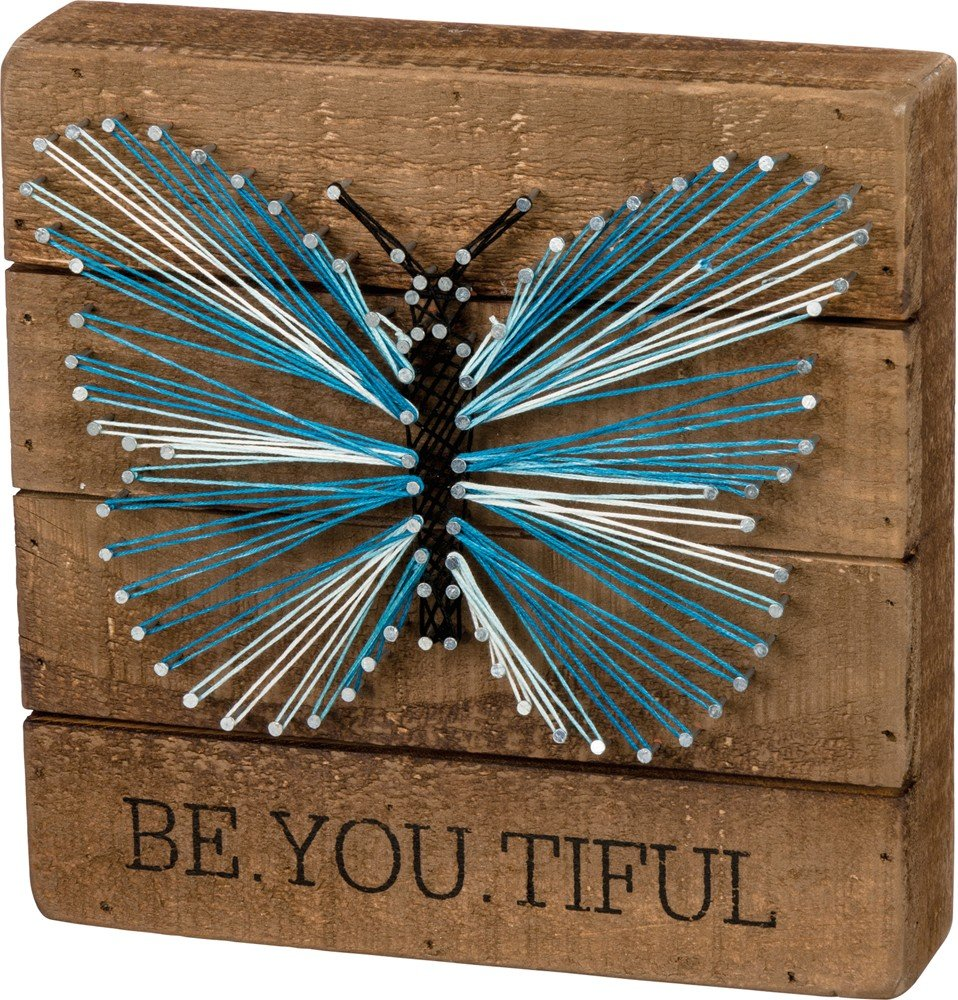 String Art Sign -Be.You.Tiful Butterfly