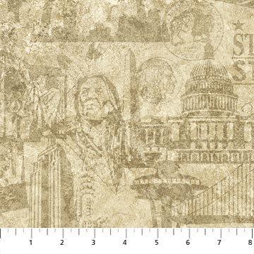 Stars & Stripes 39387-14 by Stonehenge by Northcott