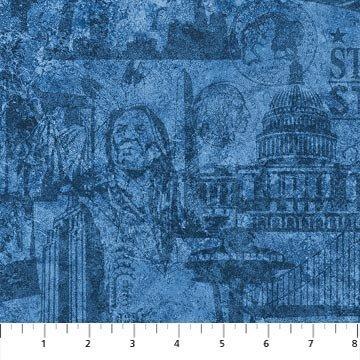 Stars & Stripes 39387-49 by Stonehenge by Northcott