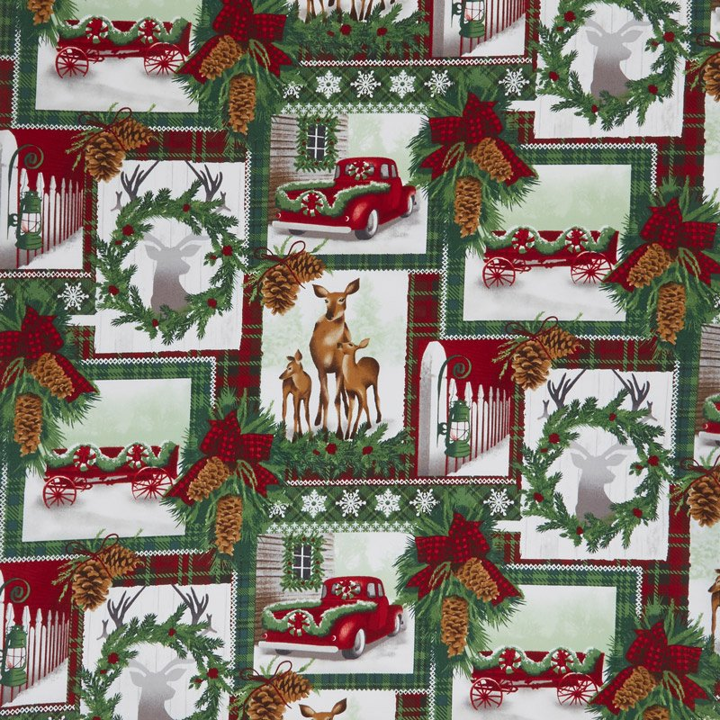 Holiday C5783-Multi Collage from Timeless Treasures