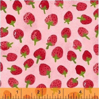 Flower Pedals Strawberries 41253-3 Pink from Windham Fabrics