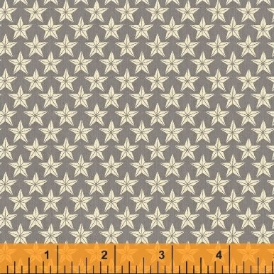Farm to Table 41802-4 C Stars on Gray from Whistler Studio for Windham