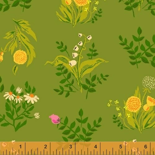 Sleeping Porch Lawn Fabric 42207-8 by Heather Ross for Windham Fabrics