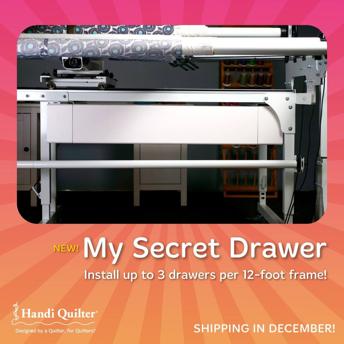 My Secret Drawer - Gallery Frame Handi Quilter