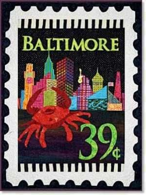 Baltimore Mini Stamp Panel by Zebra Patterns