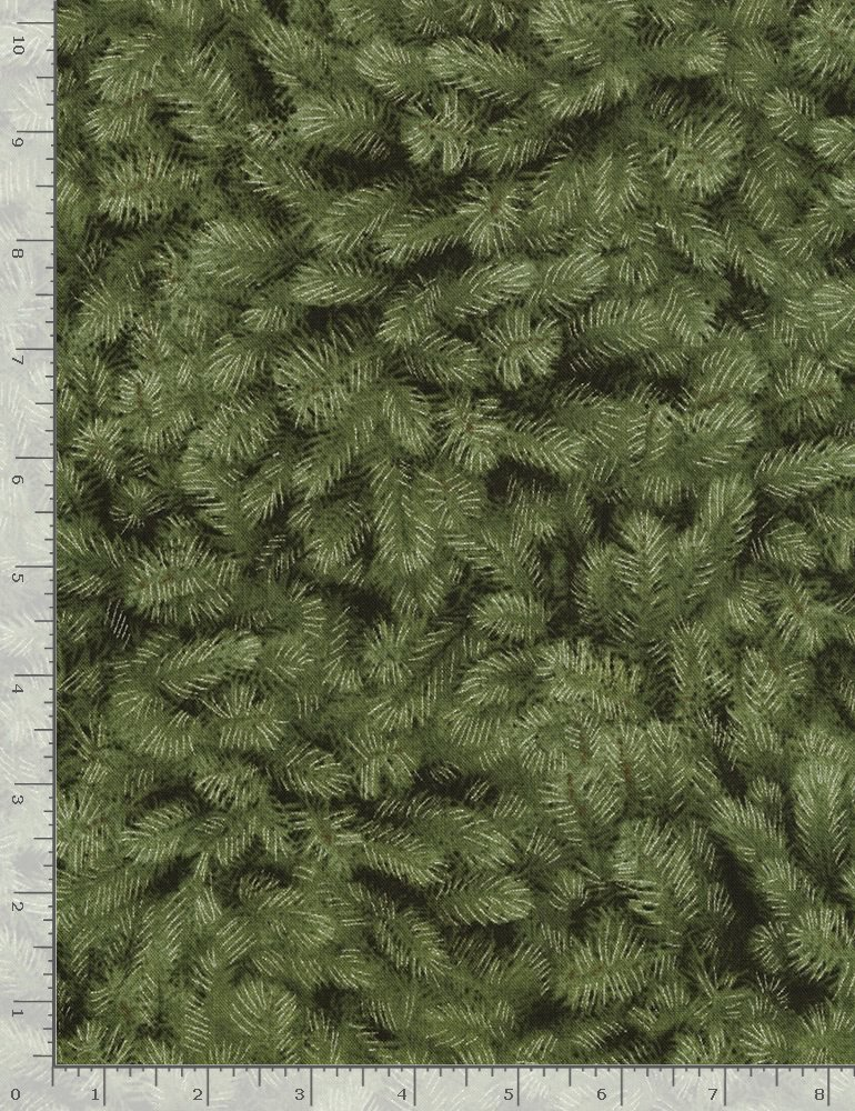 Pine Needles Holiday-CM5168 Green from Timeless Treasures