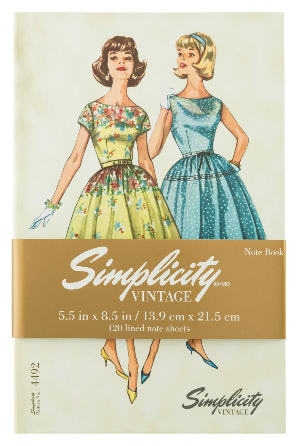 Simplicity Vintage Hardcover Lined Notebook