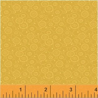 Color Wall 50653-4 Amber Circle Flowers by Mary Koval for Windham