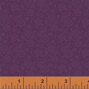 Color Wall 50653-5 Wine Circle Flowers by Mary Koval for Windham