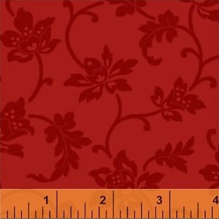 Color Wall 50654-1 Baked Jacobean Flower by Mary Koval for Windham