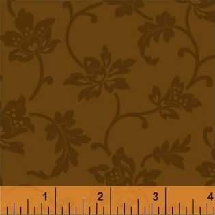 Color Wall 50654-4 Cocoa Jacobean Flower by Mary Koval for Windham