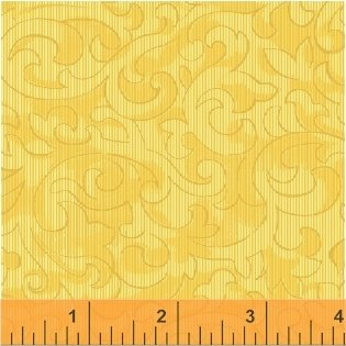 Color Wall 50655-3 Golden Scroll by Mary Koval for Windham