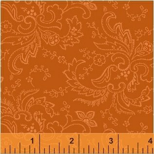Color Wall 50658-1 Burnt Orange Paisley by Mary Koval for Windham