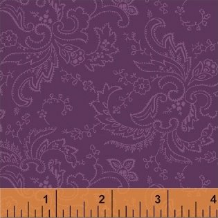 Color Wall 50658-3 Grape Paisley by Mary Koval for Windham