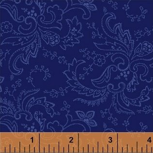 Color Wall 50658-4 Ultramarine Paisley by Mary Koval for Windham