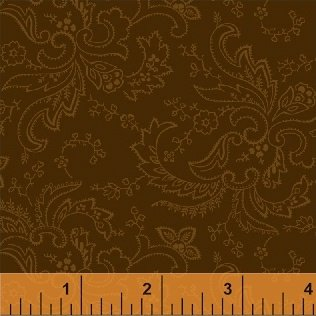 Color Wall 50658-5 Chestnut Paisley by Mary Koval for Windham