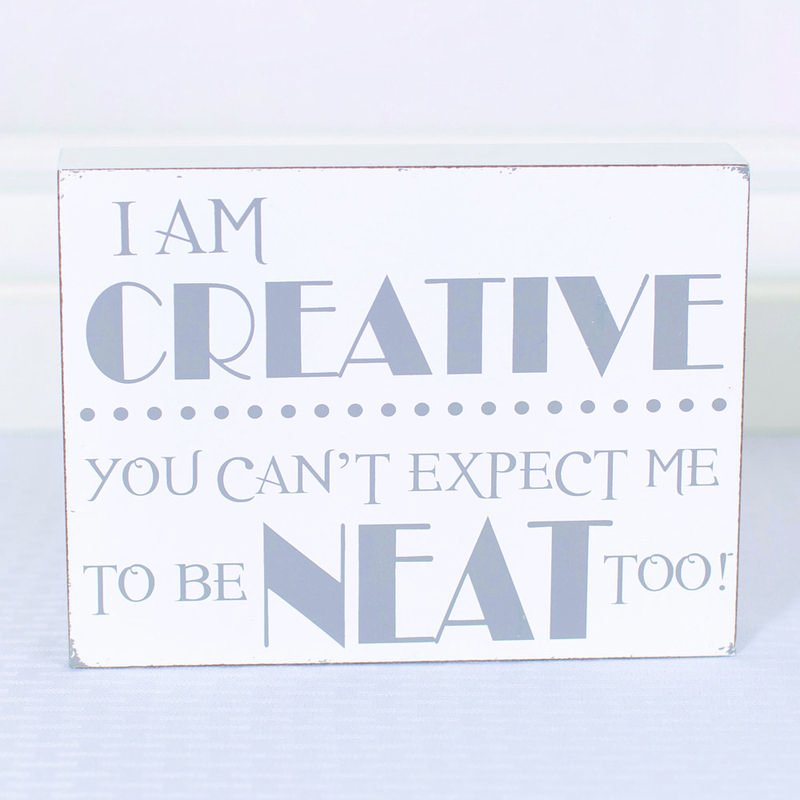 I am Creative Wood Sign