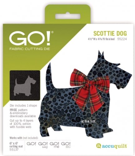 Accuquilt Go! Die Scottie Dog 55224