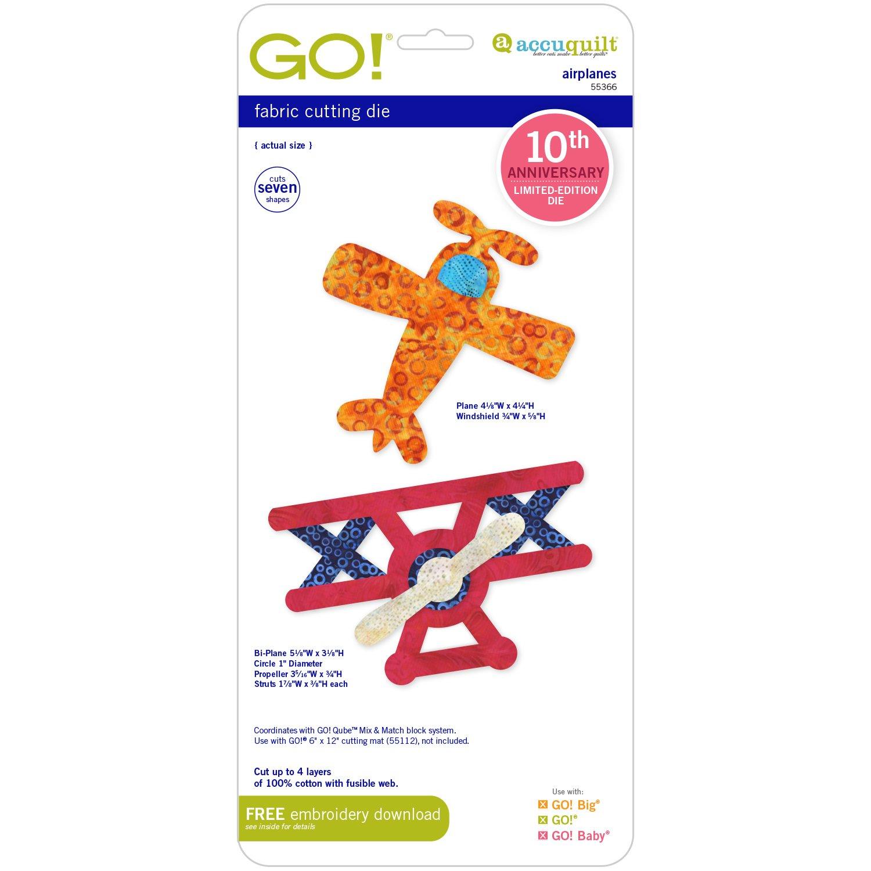 Accuquilt Go! Die 10th Anniversary Edition Airplanes 55366