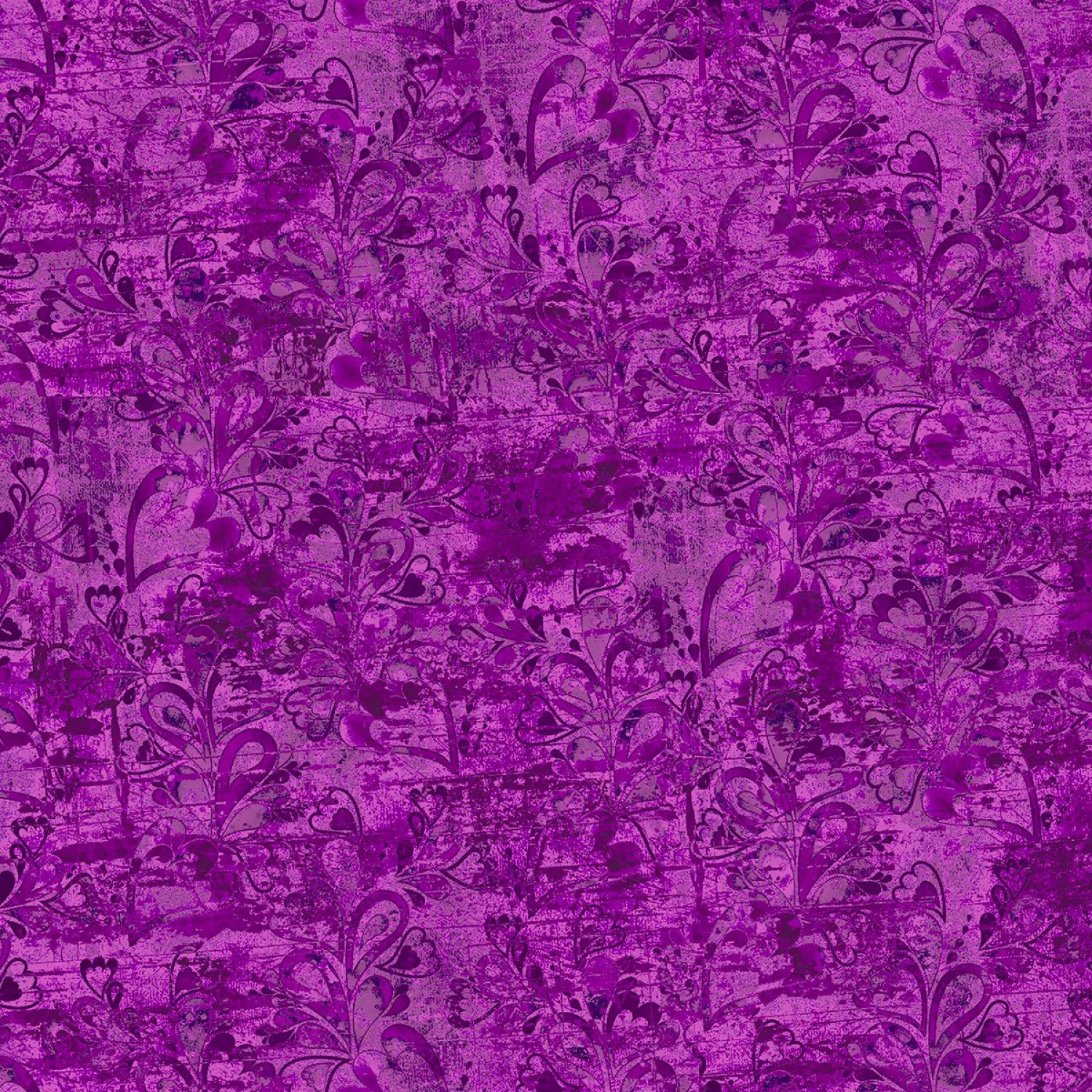 In the Meadow 14494-Purple by Connie Haley for 3 Wishes Fabrics