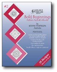 Golden Threads Pattern Pack #2 Blocks Bold Beginnings BBL2 by Keryn Emmerson