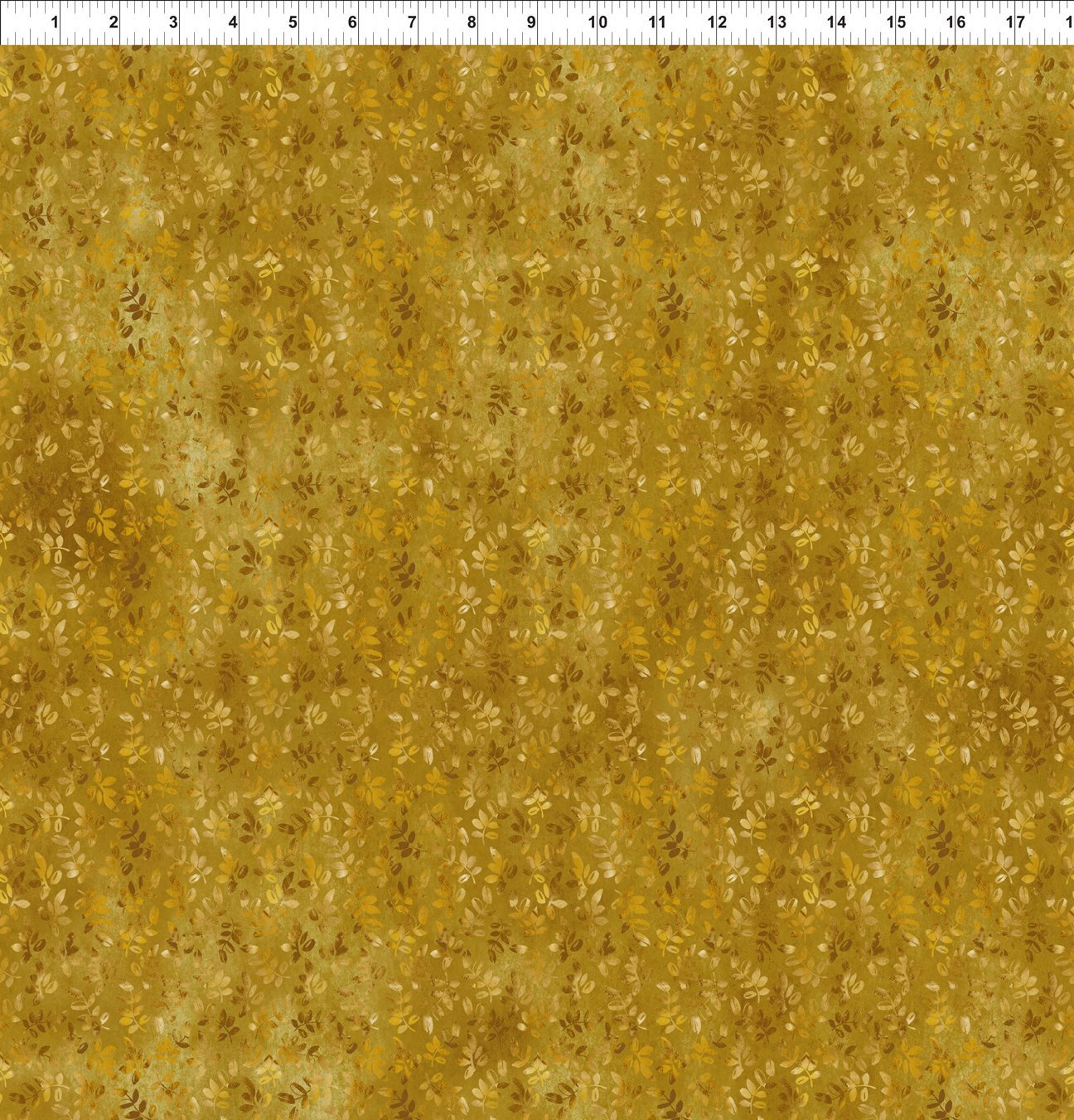 Our Autumn Friends 6OAF2 Leaf Sprigs Gold In The Beginning Fabrics