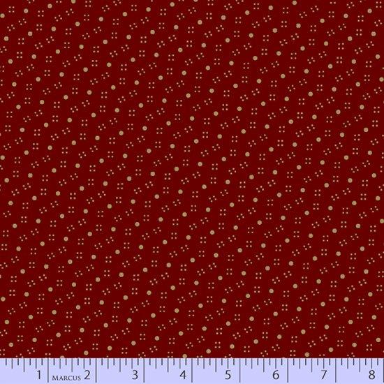 Paula's Companions 8506-0123 Dottie Red by Paula Barnes for Marcus Fabrics