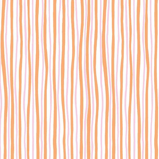Funny Bunnies Wavy Stripe 8543-22 Kanvas for Benartex