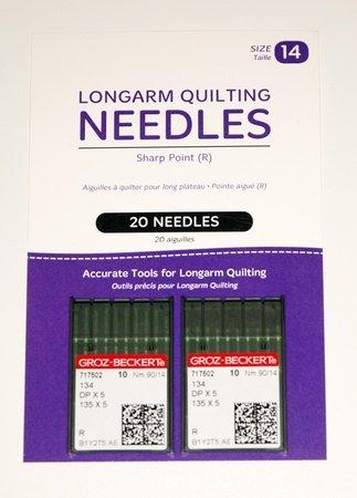 HQ Longarm Needles Size 14 Standard Sharps Groz-Beckert 20 ct