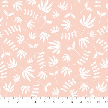Hand Stitched 90396-21 Coral by Karen Lewis for Figo Fabrics
