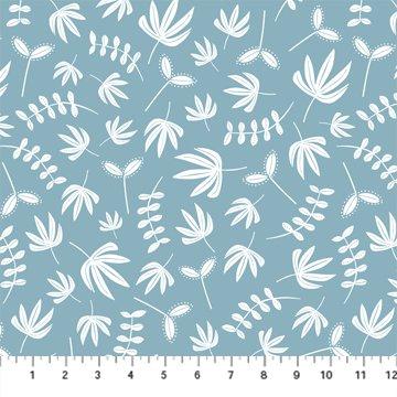 Hand Stitched 90396-40 Blue by Karen Lewis for Figo Fabrics