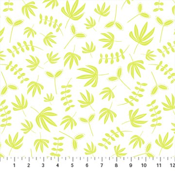 Hand Stitched 90396-50 Chartreuse by Karen Lewis for Figo Fabrics