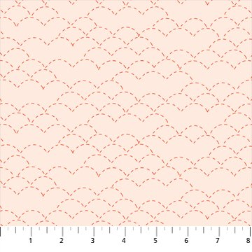 Hand Stitched 90398-11 Cream by Karen Lewis for Figo Fabrics
