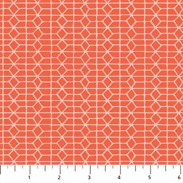 Hand Stitched 90399-24 Red by Karen Lewis for Figo Fabrics