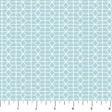 Hand Stitched 90399-40 Blue by Karen Lewis for Figo Fabrics