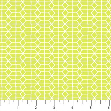 Hand Stitched 90399-50 Chartreuse by Karen Lewis for Figo Fabrics