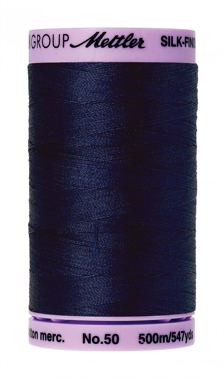 Mettler 50 wt 0825 Silk Finish 547 yds Navy